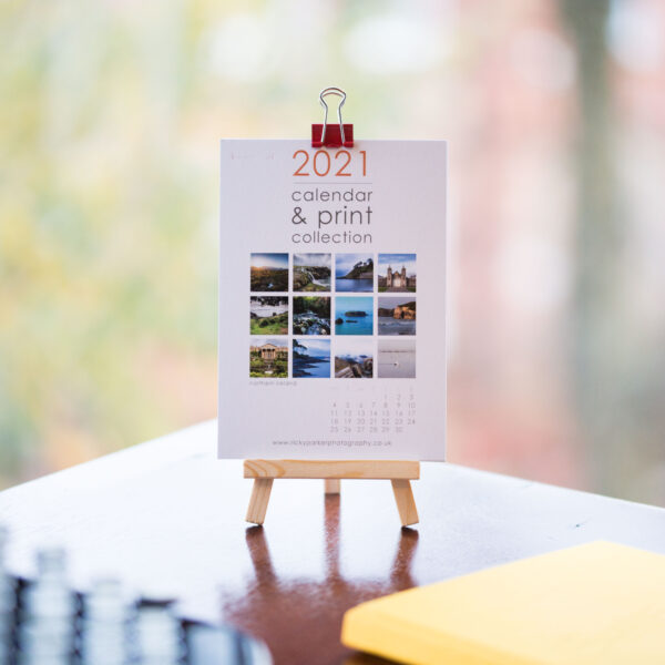 2021 Northern Ireland Calendar (A6) with Mini Easel