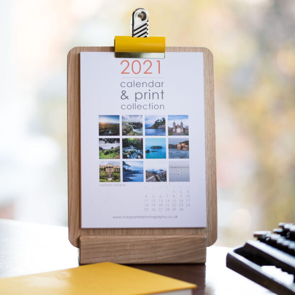 2021 Northern Ireland Calendar Refill A5 (clipboard and stand not included)