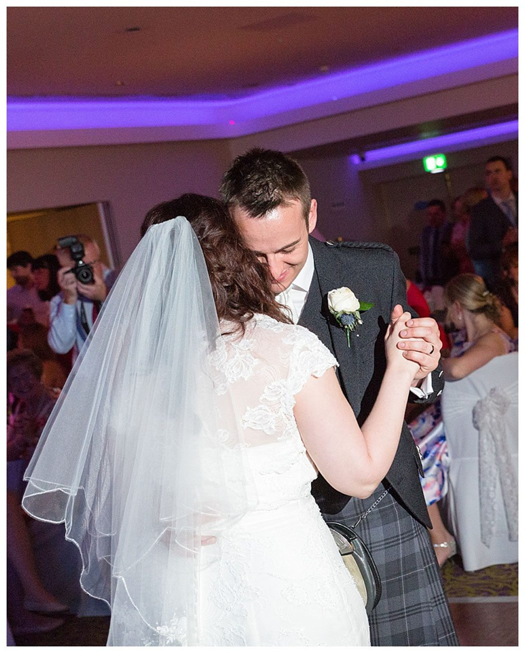Ballygally Castle Wedding Photographs by Ricky Parker Photography-63