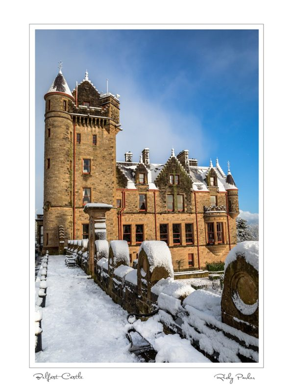 Belfast Castle Snow by Ricky Parker Photography