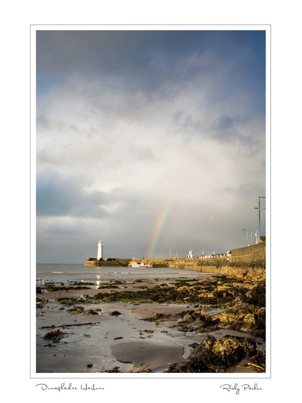 Donaghadee Harbour Rainbow by Ricky Parker Photography