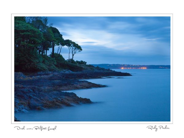 Dusk over Belfast Lough by Ricky Parker Photography