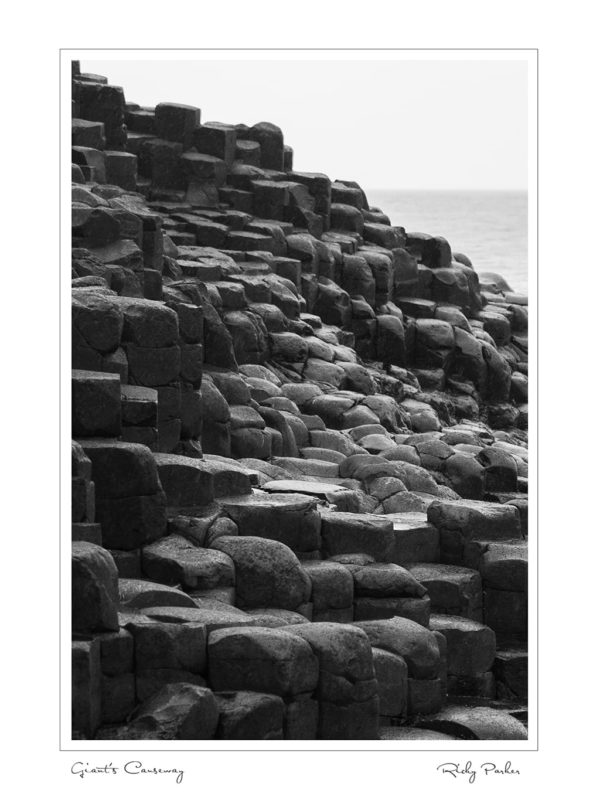 Giants Causeway BW Portrait by Ricky Parker Photography