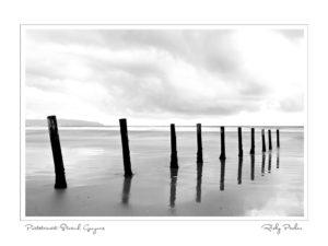 Portstewart Strand Groynes BW by Ricky Parker Photography