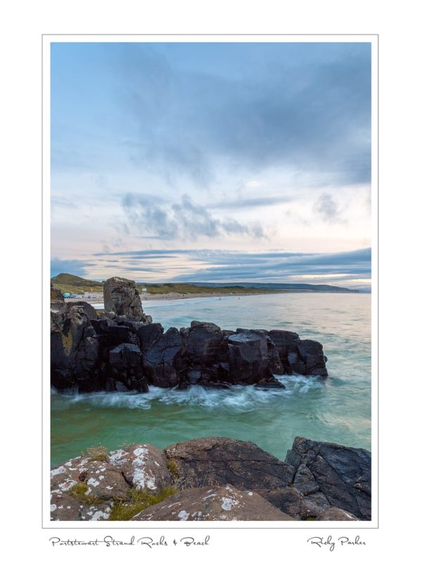 Portstewart Strand Rocks Beach by Ricky Parker Photography