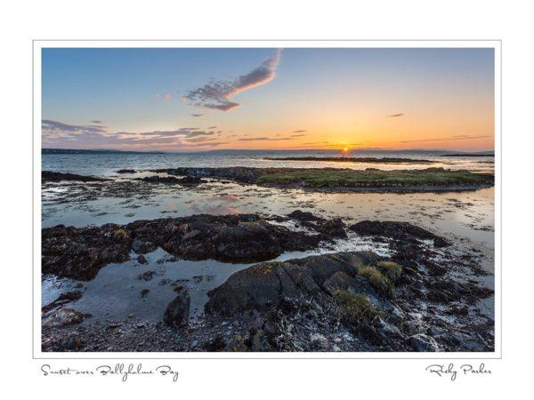 Sunset over Ballyholme Bay by Ricky Parker Photography
